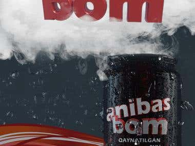 """Anibas"" drink 2D/3D (creative ad banner) with video"