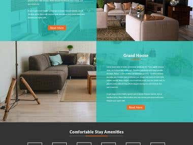 Holiday homes responsive web template
