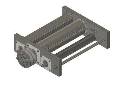 Part of the Mechanical Design on a wood planer machine