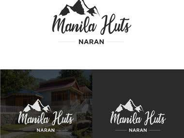 Manila Huts Naran logo design concept