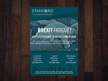 Leaflet design for Stanford Estates