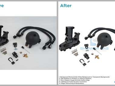 Background Remove From Machinery Parts Images