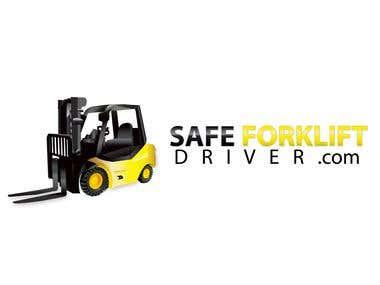 Illustration logo design for Safeforkliftdriver.com