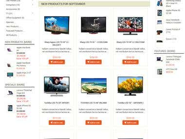 Zen Cart Responsive Theme (Ecommerce)