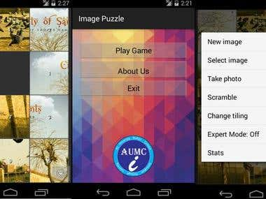 Android image puzzle game