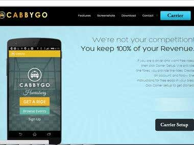 Website Development Boot Strap : CabbyGO ,LLC