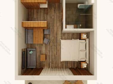3D Realistic Floor plan