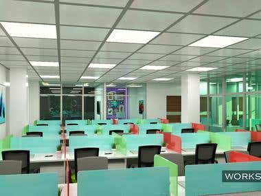 Interior designing & Visualization for an Office Space.