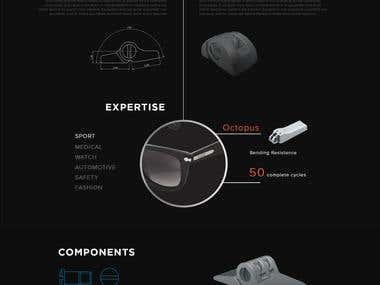 Web design for eyeglass part manufacturer