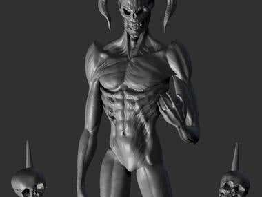 Demon concept speed sculpt