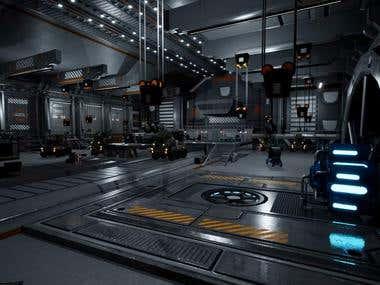 Sci Fi Environment scene