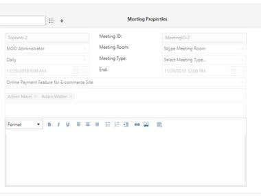 Sharepoint Meeting Management App