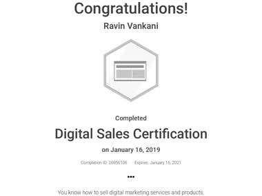 Digital Sales Certified by Google