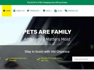 Shopify Website Design & Development - Vet Organics