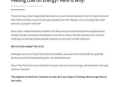 Health and Fitness Article