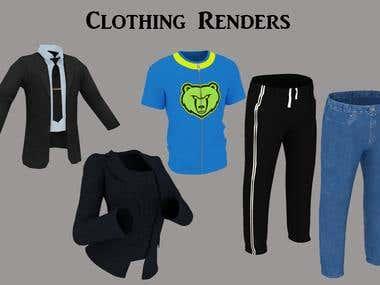 Renders of clothing