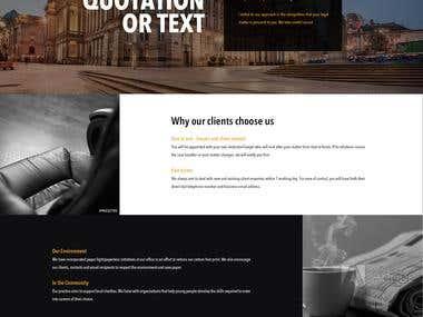 Fullwidth OnePage WebSite