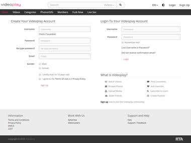 Custom Adult Content Website