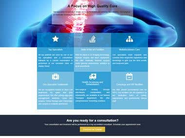 A Website for back pain Solution