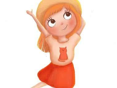 illustrarion, girl, character design