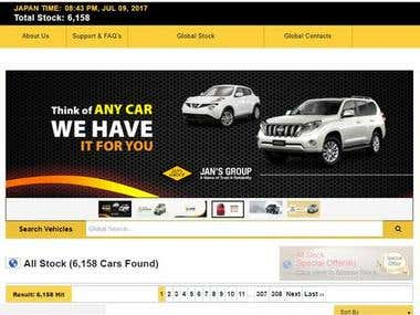 Website for Car sales