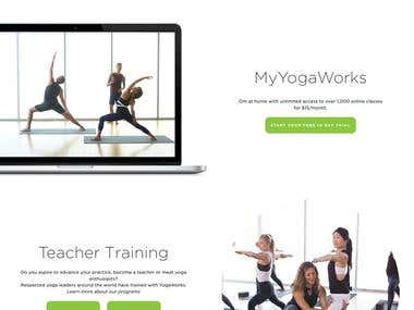 Wordpress - Yoga classes website