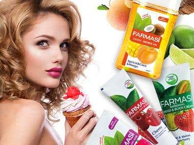 Advertisement design for cosmetic company