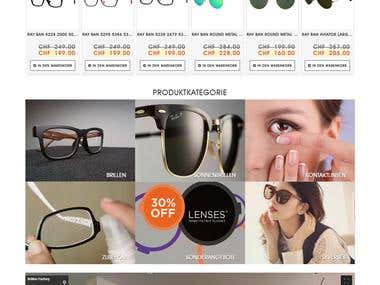E-Commerce brillenfactory WordPress
