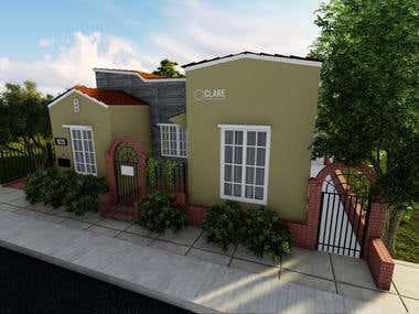 Exterior Home Design (Rendering)