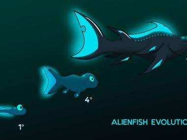 Alien Fish Evolution