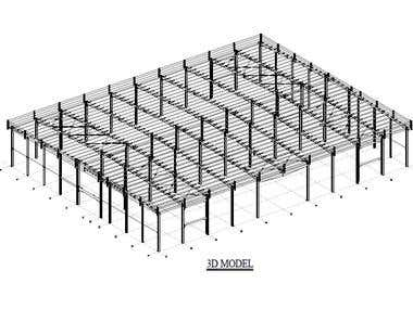 Structural design of Steel structure and the connections.