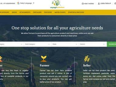 Ecommerce website for Agricultural Products | MyAgriSolution