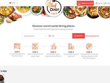 Chef Booking Website | Chef Diner