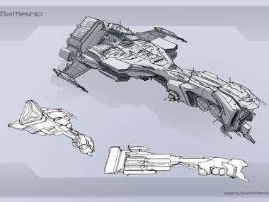 Concept art Ship
