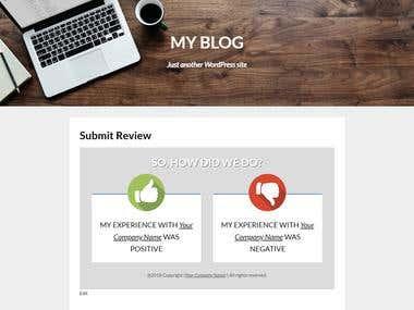 Online Review Manager (Wordpress Plugin)
