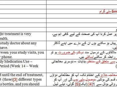 English to Urdu Revision