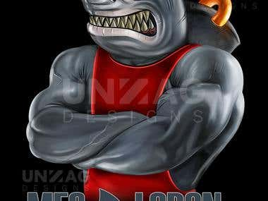 Logo Illustration - Megalodon Fitness