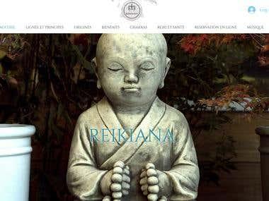 ReikiAna website WIX Set-up