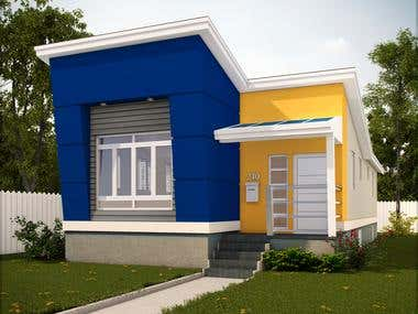 Modern Style Bungalow House
