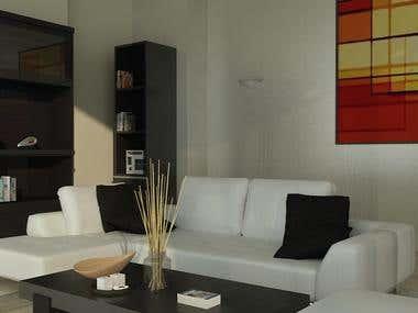 Living room rendering scene