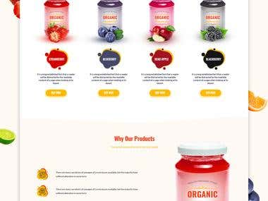 Vibrant Organic Jelly Landing page.