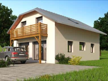 3d rendered House(Sketchup & 3Ds max Vray)