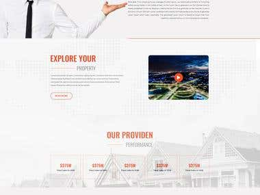 Minimal Professional Real Estate Home page Design
