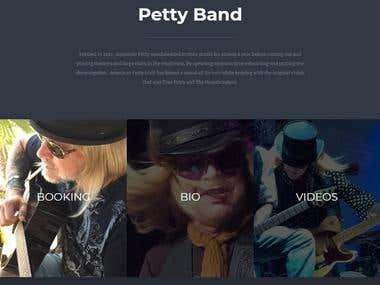 Website design for music band