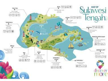Tourism Map - Central Sulawesi