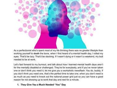 Article & Blog - Mental Health