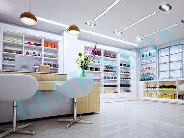 retail shop design with concept