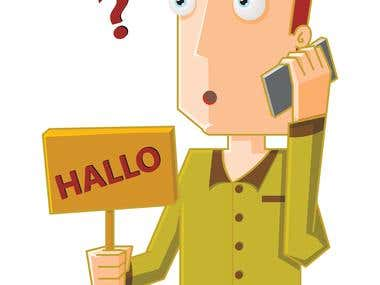 man do a call with halo board