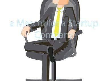 Man on Chair - a Mascot for a Startup Company
