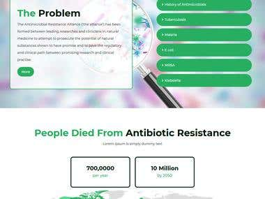 Website Design And Development for Antimicrobial Alliance